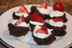 Brownie Bites with Fruit
