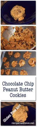 Gluten Free chocolate chip peanut butter cookies