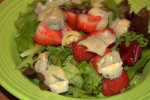 Sweet Heart Salad with strawberry lemon vinaigrette