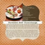 Shannon's Shredded Beef Chimichanga