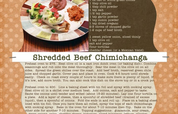 Shannon's Shredded Beef Chimichanga