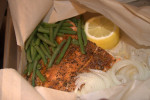 Blackened Salmon and Green Bean Parchment Bags