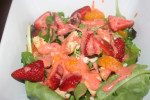 Grilled Chicken, Feta and Strawberry Vinaigrette Salad