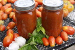 Garlic & Basil Pasta Sauce  — Home Canning or Freezer Friendly