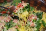 Wonderful Spaghetti Squash Dish with Extra veggies.